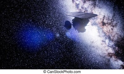 mission, impact, profond, sonde, espace
