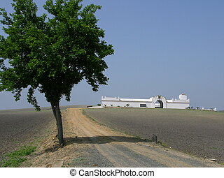 Mission near Osuna - Beautiful, lonely white-washed mission...