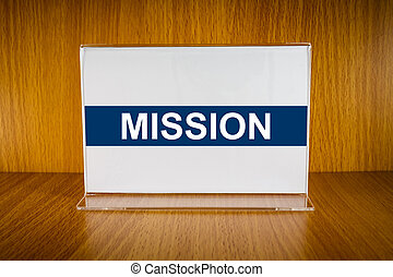 Mission on Acrylic card holder