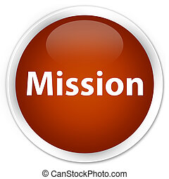 Mission premium brown round button