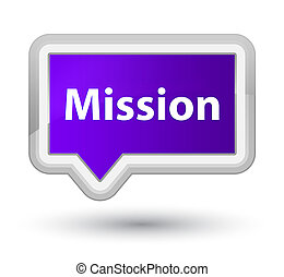 Mission prime purple banner button