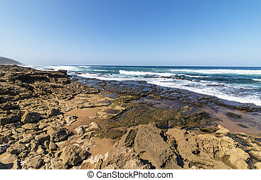 Mission Rocks Beach in Isimangaliso Wetland Park South...