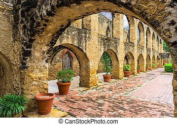 Mission San Jose in San Antonio, Texas, USA.