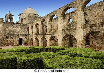 Mission San Jose, San Antonio Texas - Mission San Jose in...