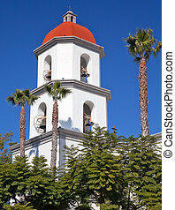 Mission San Juan Capistrano Basilica Steeple Church California