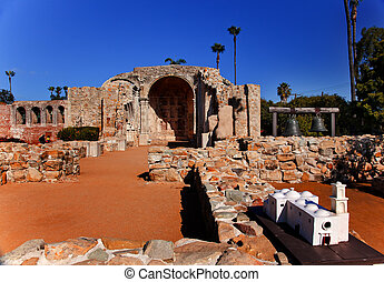 Mission San Juan Capistrano Church Ruins Model California
