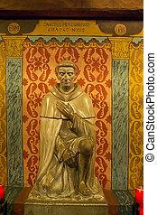 sculpture of saint
