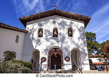 Mission San Luis Obispo de Tolosa Facade Bells Cross ...