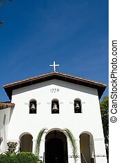 The entrance of the church at the Mission in San Luis Obispo in California.