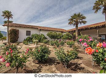 Mission Soledad rose garden