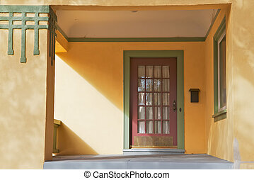 Mission Style house entry