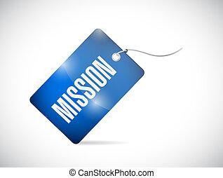 Mission tag illustration design