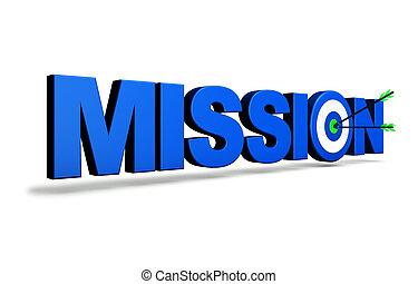 Mission Target Business Concept