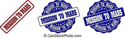 MISSION TO MARS Grunge Stamp Seals
