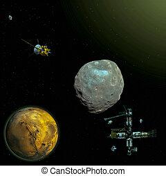 Mission to Mars moon, Phobos