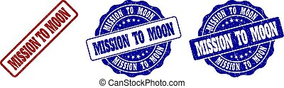 MISSION TO MOON Scratched Stamp Seals