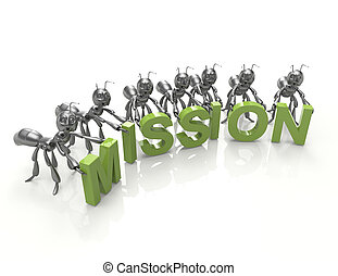 Mission word concept-3d