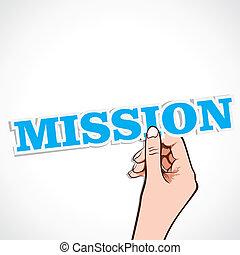 mission word in hand