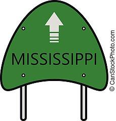 mississippi, estrada estatal, sinal