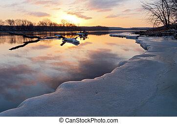 mississippi folyó, napkelte