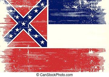 Mississippi grunge flag
