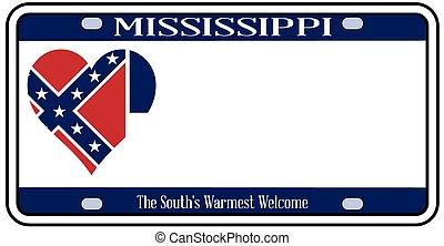 Mississippi License Plate - Mississippi state license plate...