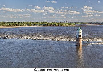 Mississippi River above St Louis - Mississippi RIver at...