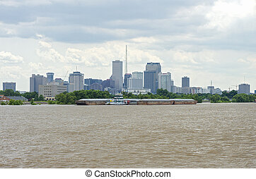 Mississippi River and New Orleans Skyline