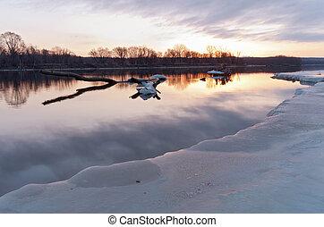 Mississippi River Daybreak in South