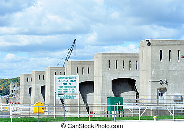 Mississippi River Lock & Dam No. 9