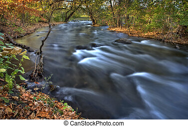 Mississippi River Minneapolis rushing in Hiawatha Park Minnesota