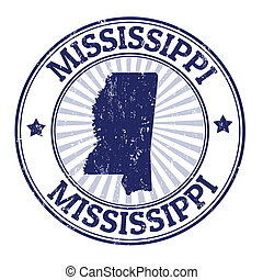 Mississippi stamp - Grunge rubber stamp with the name and ...