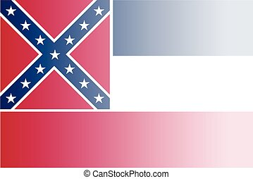 Mississippi State Flag Fade Background