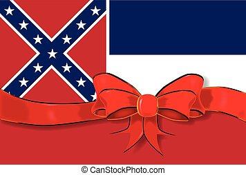 Mississippi State Flag ribbon