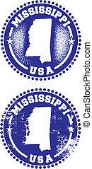 Mississippi USA Stamps