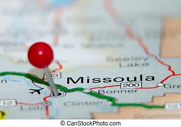 missoula city pin on the map