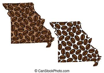 Missouri map vector - Missouri (United States of America) -...