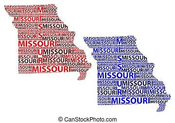 Missouri map vector - Sketch Missouri (United States of...