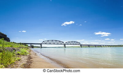 Missouri River during summer time
