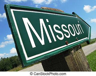 Missouri road sign