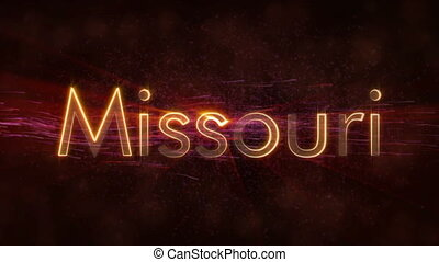 Missouri - Shiny looping state name text animation -...