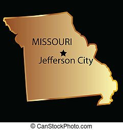 Missouri state usa golden with capital name
