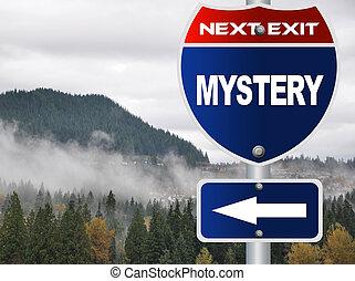mistério, sinal estrada