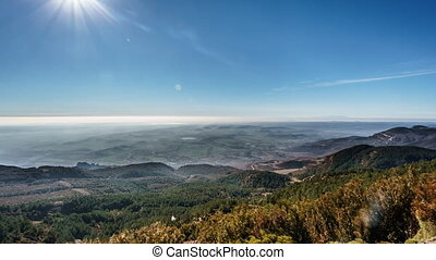 Mist in the plain - Wide angle time lapse of mist in the...