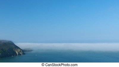 Mist on Dover cliff - Sea mist near Dover cliff, Wales...