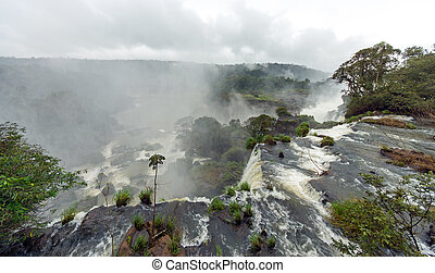 Mist over the Iguazu falls