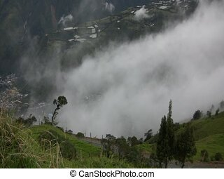 Mist rising from the Pastaza Valley, Ecuador