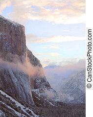 Mist Surrounds El Capitan