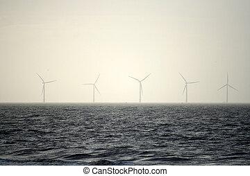 mist, turbines, wind, zee