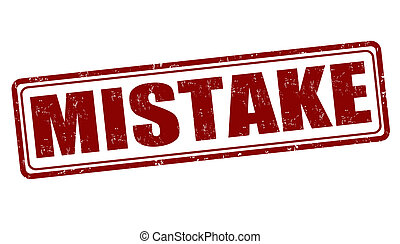 Mistake stamp